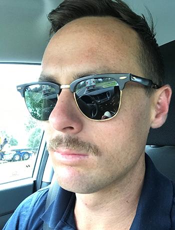 Matt with a moustache