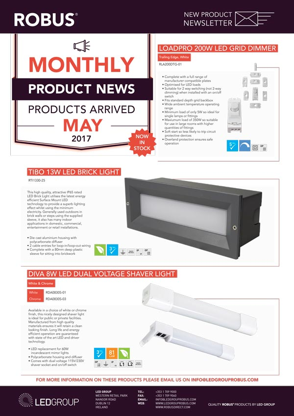 ROBUS Product News May 2017